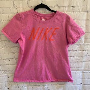 Nike T-Shirt pink/orange women's size XL